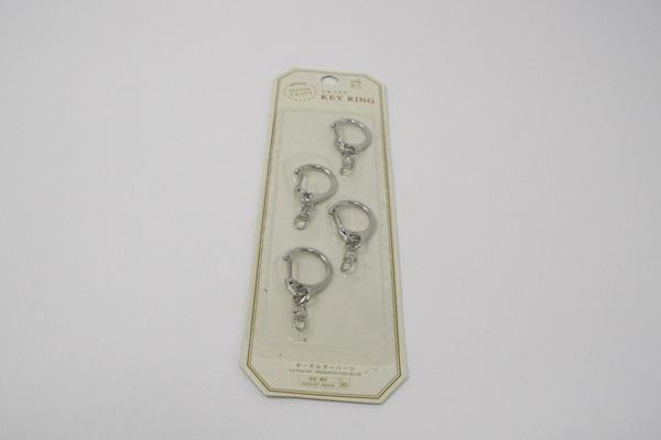 ダイソーのキーホルダーの金具写真