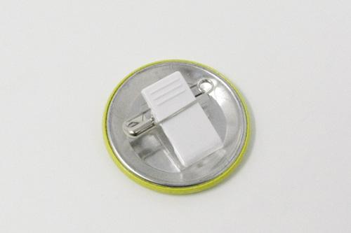 円形クリップ缶バッジ
