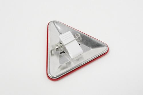 三角形クリップ缶バッジ